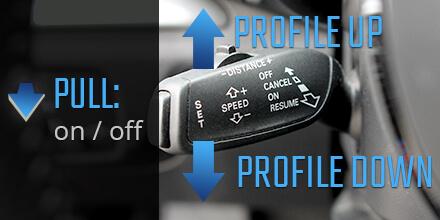 Audi A3 Sound Booster Operación de control de crucero