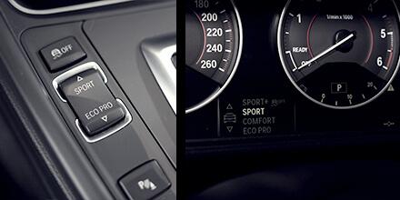 BMW Sound Booster Operation Interruptor de perfil de viaje