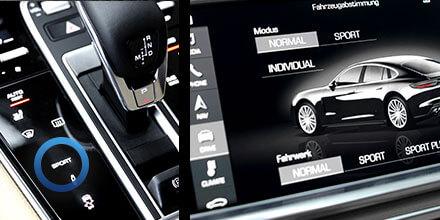 Modo de control del amplificador de sonido Porsche Panamera