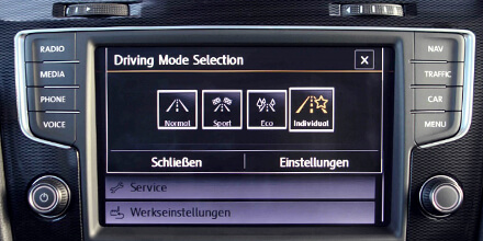 VW Sound Booster Bedienung Driving Mode