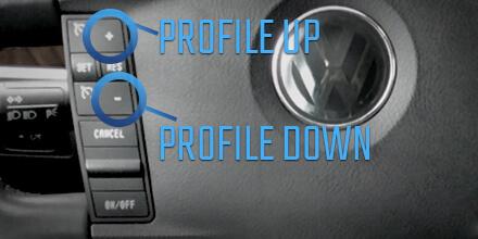 VW Touareg control de crucero sonido de escape