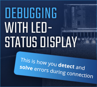 Debugging with LED Status display KUFATEC module